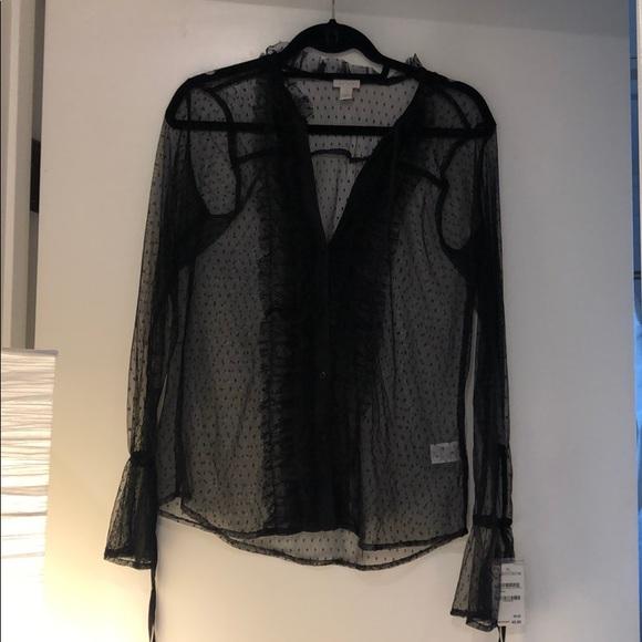 hinge Tops - Nordstrom Hinge see through black blouse